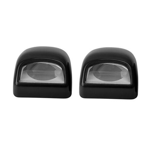 2x Black License Plate Light Lens for 99-13 GMC Chevrolet Sierra Silverado Truck
