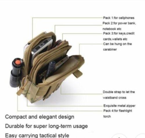 Tactique Taille Pack Sac Ceinture camping extérieur//Haj//PAPIERS Pochette Portefeuille UK