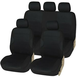 Racing-Black-with-Black-Panels-Deluxe-Luxury-Full-Car-Set-Seat-Cover-Protectors