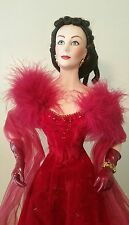 "Franklin Mint Heirloom Porcelain Doll ""Scarlett O'Hara Gone With The Wind"""