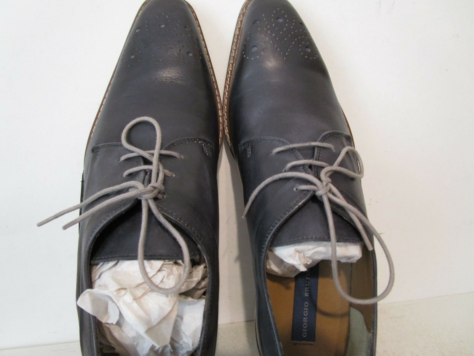Giorgio Brutini Uomo Uomo Uomo Reddington 25072 Pelle Oxford Dress Shoes Gray Size 13 M 3223da