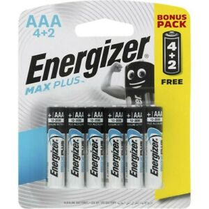 Energizer Max Plus AAA Battery 6 pack