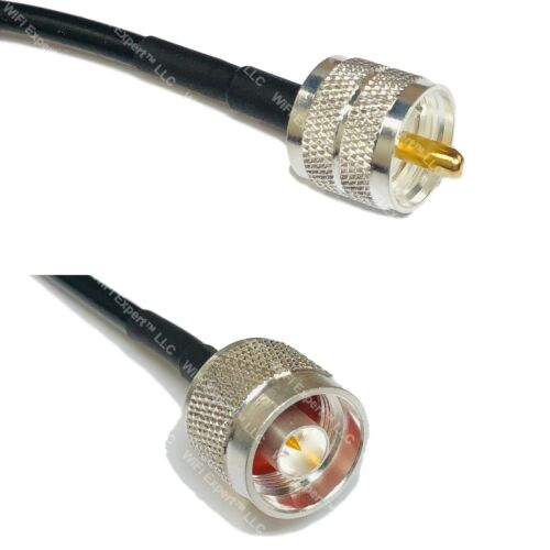 USA-CA LMR240 UF PL259 UHF MALE to N MALE Coaxial RF Pigtail Cable