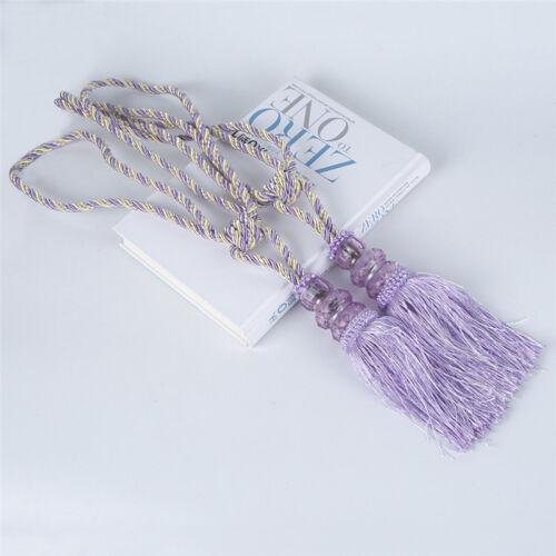 1Pair Rope Window Curtain Tiebacks Tassel Binding Rope Tie Backs Home Decor 55cm