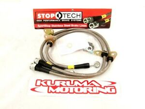 STOPTECH-STAINLESS-STEEL-BRAKE-LINES-REAR-PAIR-950-40500