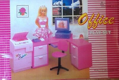 Fiducioso Barbie Doll Size 1/6 Scale Office Set - Ships From Uk