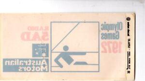 1972-Olympics-Sailing-RADIO-5AD-Australian-Motors-WINDOW-STICKER-EXC-Rare