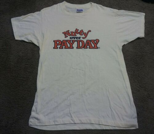 Vintage Snack Tee T Shirt Payday Candy Bar Pay Day