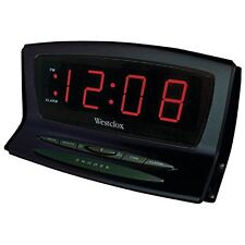 Westclox Digital Battery Backup LED Snooze Black Auto Set Alarm Clock 70012BK