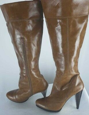 Women's Shoes Pre-owned Women's Brown Shoedazzle Boot U.s Size 8.5 U.k Size 6.5 Eur Size 38.5