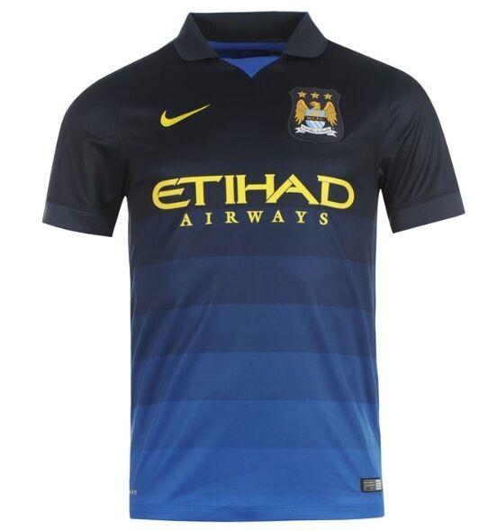 Nike Manchester City Away Trikot 2014 2015 2015 2015 alle Größen Blau Neu mit Etikett a650eb