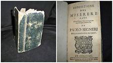 Esposizione del Miserere - Paolo Segneri - Firenze 1692