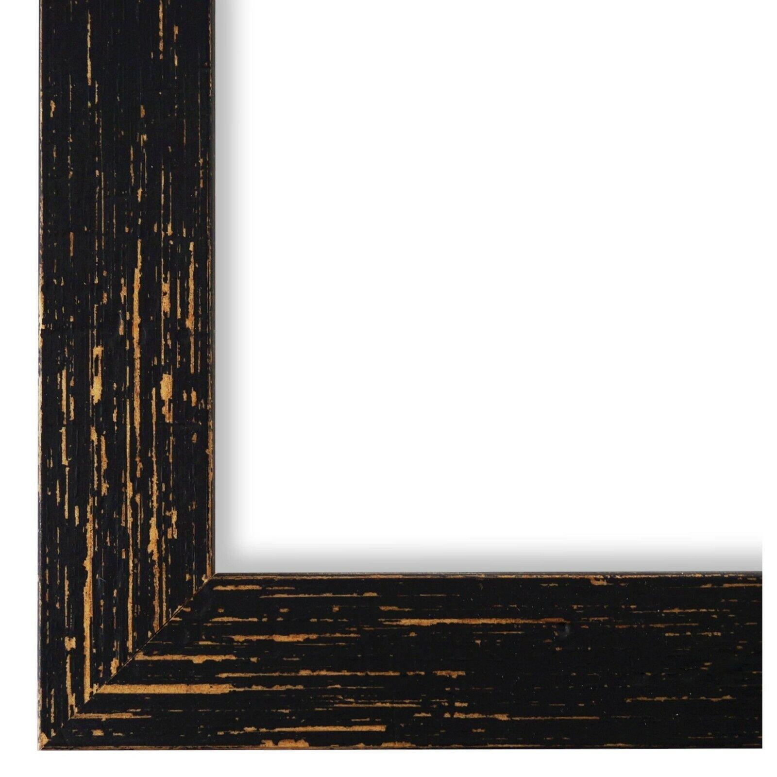 Bilderrahmen Schwarz Vintage Retro Holz Cremona 3,0 - NEU alle Größen