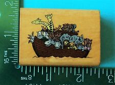 NOAHS ARK Rubber Stamp by COMOTION Religious Boat Animals