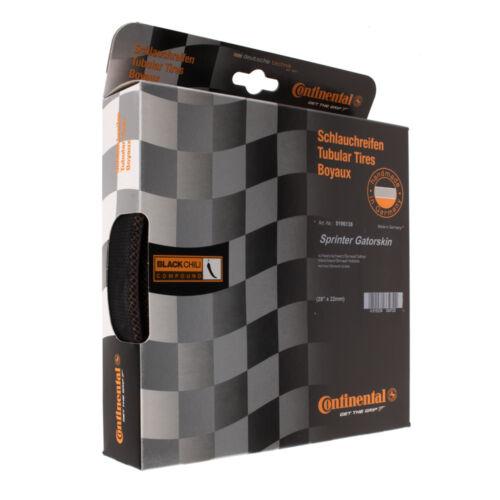 Nouveau 2018 Continental Sprinter GatorSkin tubulaire Vélo De Route Pneu Noir 28 x 22 mm