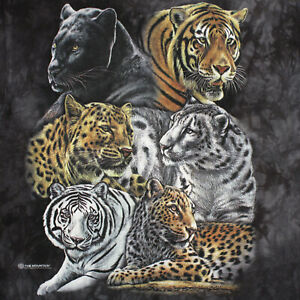THE MOUNTAIN BIG CAT Tiger Leopard Panther Graphic Art T-SHIRT MEN'S ADULT LARGE
