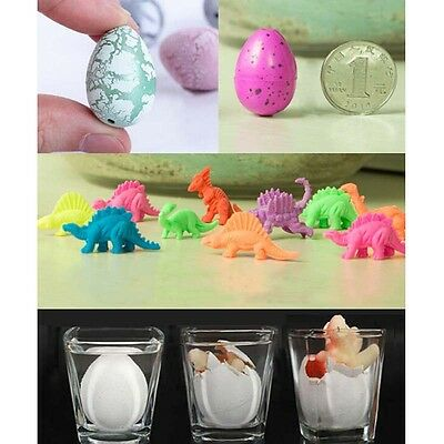 10x Trumpet Funny Magic Growing Hatching Dinosaur Eggs Christmas Child Toy Gifts