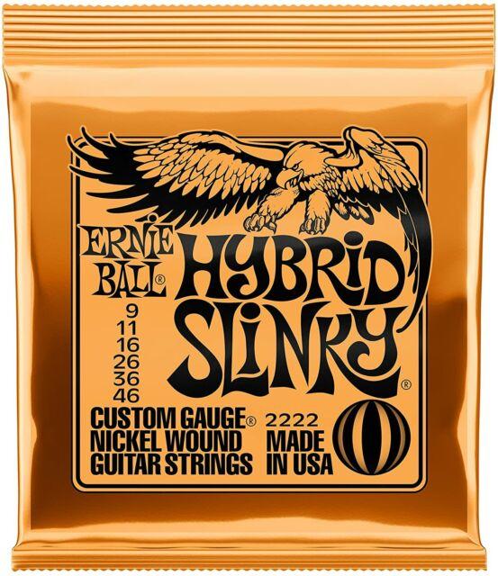 Ernie Ball 2222 Hybrid Slinky Nickel Electric Guitar Strings