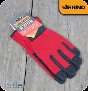 Rhino Red//Black Men/'s General Purpose Working Gardening Gloves XLarge Size 10