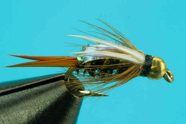 12 One Dozen Beadhead Flashback Pheasant Tail Nymph size 10 fishing flies