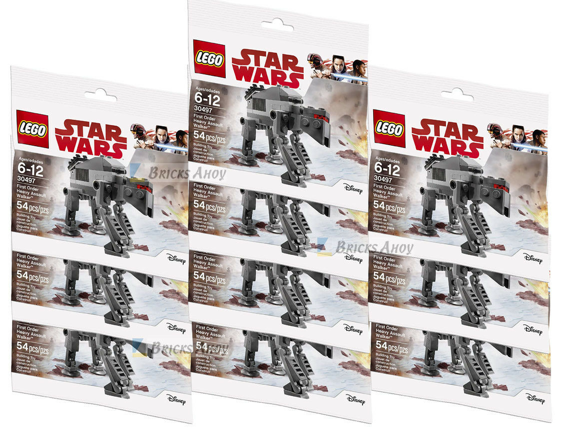 LEGO 30497 Star Wars - First Order HEAVY ASSAULT WALKER - Lot of 10 - Nuovo