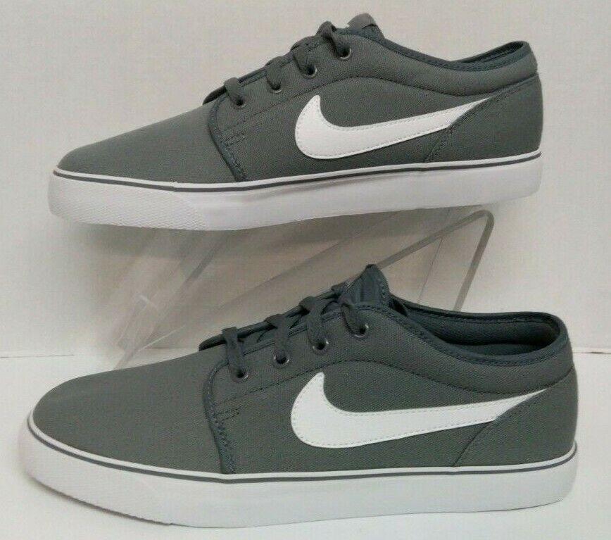Nike Toki Low TXT Cool Grey White 555272 091 Men's Size