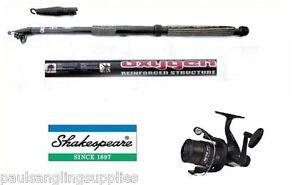 Shakespeare-Fishing-Beta-Reel-Line-amp-Telescopic-Carbon-Tele-Travel-Fishing-Rod