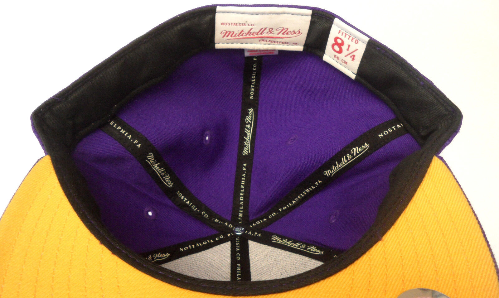 NBA Los Angeles Lakers Mitchell Mitchell Mitchell & Ness Fitted Mütze Hut Größe Wählen M&N Neu d6d8e1