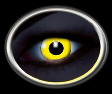 ZOE UV YELLOW lentille de couleur lens jaune contact halloween glow vampire gelb