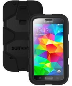 official photos 537e7 d4ba3 Details about GENUINE GRIFFIN Survivor Samsung Galaxy S5 Protector Case |  BLACK