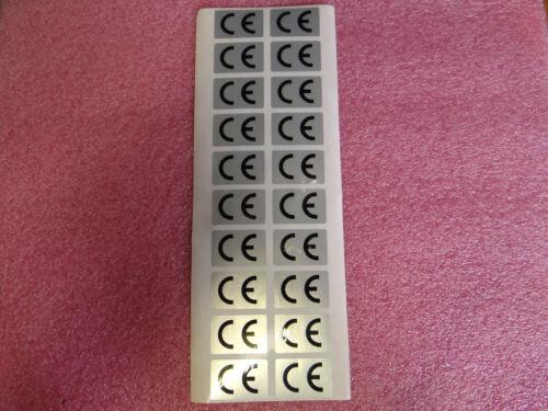 1 arco a/' 20 x CE caratteri ADESIVI ETICHETTE Argento Pellicola stesso rettangolare 30x20mm