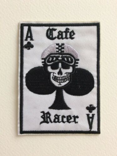 NEUF CAFE RACER AS TREFLE 6,5*9 CM D131 //// ECUSSON PATCH AUFNAHER TOPPA