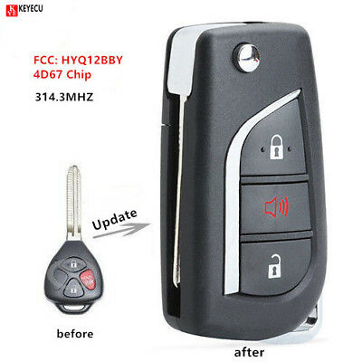New Replacement for Toyota RAV4 Remote Head Key 3B FCC# HYQ12BBY 4D67