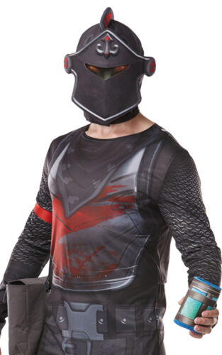 Kit Costume Halloween UK Adult Official DELUXE FORTNITE Black Knight Jumpsuit