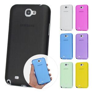 UltraSlim-Case-Samsung-Note-2-FeinMatt-Schutz-Huelle-Skin-Cover-Schale-Folie