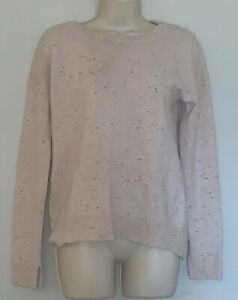 Zadig-amp-Voltaire-Sweater-Women-Sz-M-gold-star-Elbow-CiCi-Patch-100-Cashmere