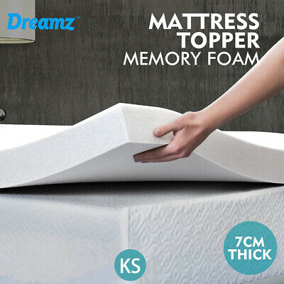 Details about  DreamZ Mattress Topper Memory Foam Toppers 7CM Underlay Breathable King Single