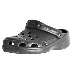 Sunville-Women-039-s-Rubber-Clog-Sandal-2008-BLK-size-8