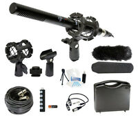 Broadcasting Microphone Holiday Bundle For Sony Handycam Fdr-ax100/b Camcorder