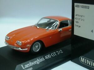 Wow extrêmement rare Lamborghini 400 Gt S2 2 1967 Orange 1:43 Minichamps-espada 4012138070820