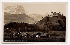 SUISSE SWITZERLAND canton FRIBOURG GRUYERES vue chateau et le moléson