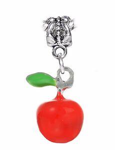 e2742854a7 Caricamento dell'immagine in corso Mela-Rosso-Smalto-Verde-Frutta -Cibo-Insegnante-Ciondolo-