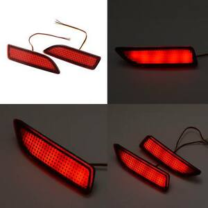 Universal-Car-Rear-Bumper-Red-Led-Fog-Brake-Light-Lamp-Warning-Lights-Red