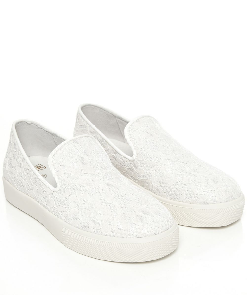 NIB ASH Illusion Femme Chaussures OFF Blanc Lace Slip on Sneakers Chaussures Sz 10 40M