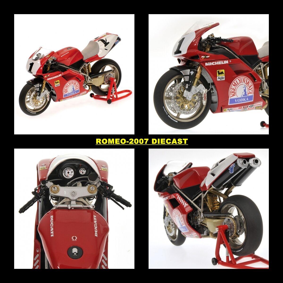 1 12 Minichamps Ducati 916 Carl Fogarty World Champion SBK 1995 RARE NEW