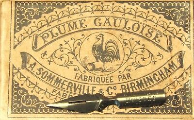 SIX NIB PACK Sommerville /& Co Plume Gauloise 750EF. BOX NOT INCLUDED