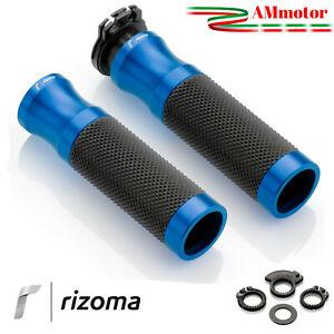 Manopole-Rizoma-Yamaha-T-Max-500-Moto-Sport-Coppia-Blu-Alluminio-Gomma