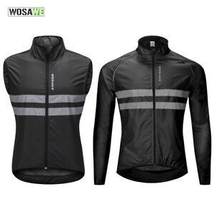 Mens-Cycling-Jacket-Windproof-MTB-Bike-Vest-Breathable-Jersey-Reflective-Coat