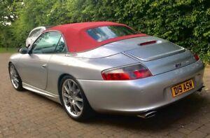 Image Is Loading Porsche 911 996 Convertible Top Hood Burgundy German