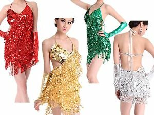 Women/'s Salsa Tango Rumba Samba Jive Ballroom Latin Competition Dance Dresses UK